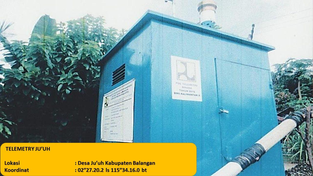 "TELEMETRY JU'UH TELEMETRY JU'UH Lokasi: Desa Ju'uh Kabupaten Balangan Koordinat: 02""27.20.2 ls 115""34.16.0 bt"