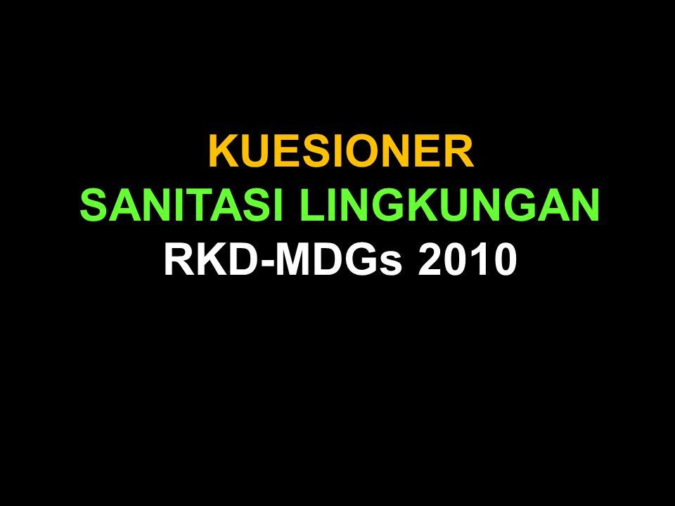 KUESIONER SANITASI LINGKUNGAN RKD-MDGs 2010