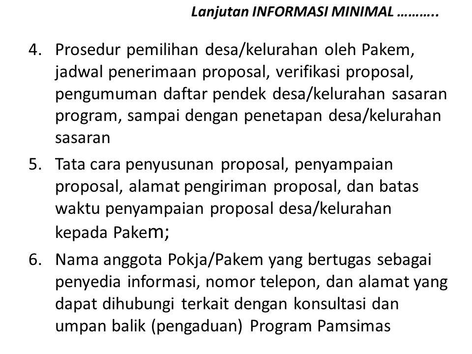 PENYUSUNAN REKOMENDASI DAFTAR PENDEK DESA Tujuan: Menyusun ranking desa/kelurahan berdasarkan kriteria desa/kelurahan sasaran.