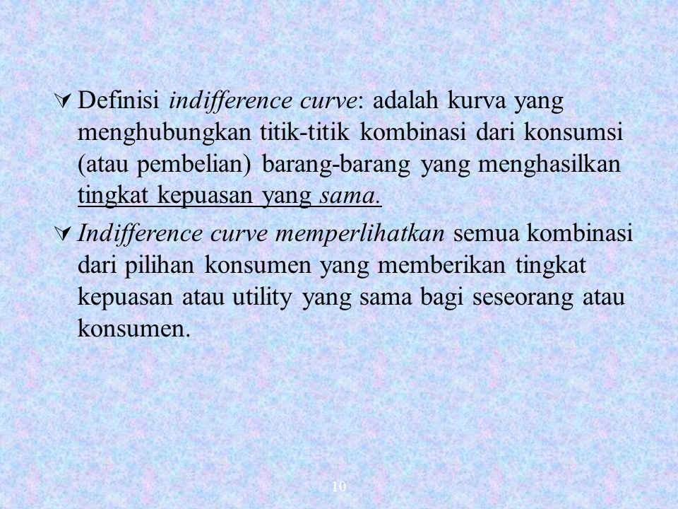 9 2. Pendekatan Indifference Curve a.