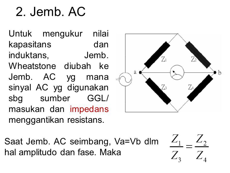 2. Jemb. AC Untuk mengukur nilai kapasitans dan induktans, Jemb.