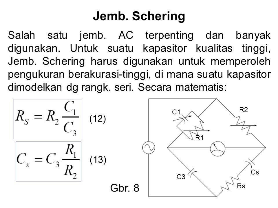Jemb. Schering Salah satu jemb. AC terpenting dan banyak digunakan.