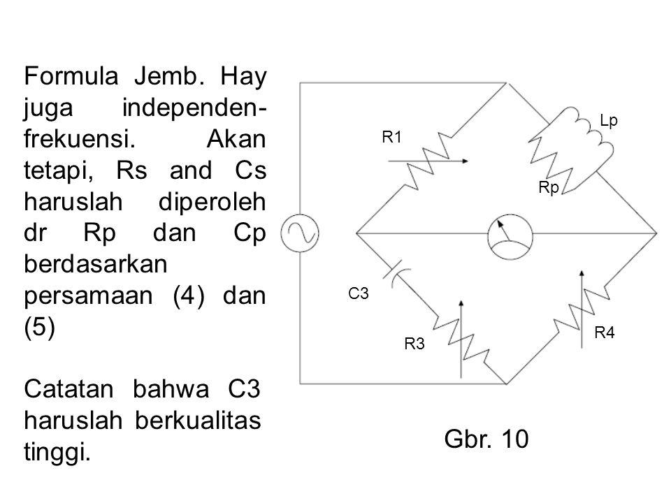 Formula Jemb. Hay juga independen- frekuensi.