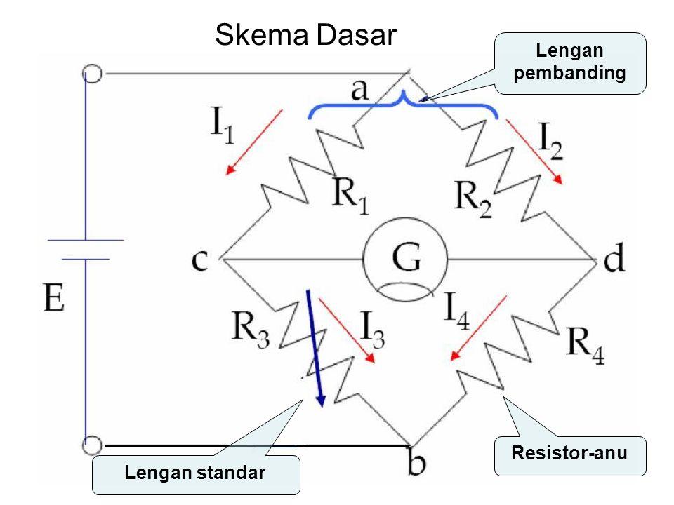Lengan standar Resistor-anu Lengan pembanding Skema Dasar