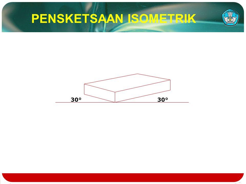 30° 30° PENSKETSAAN ISOMETRIK
