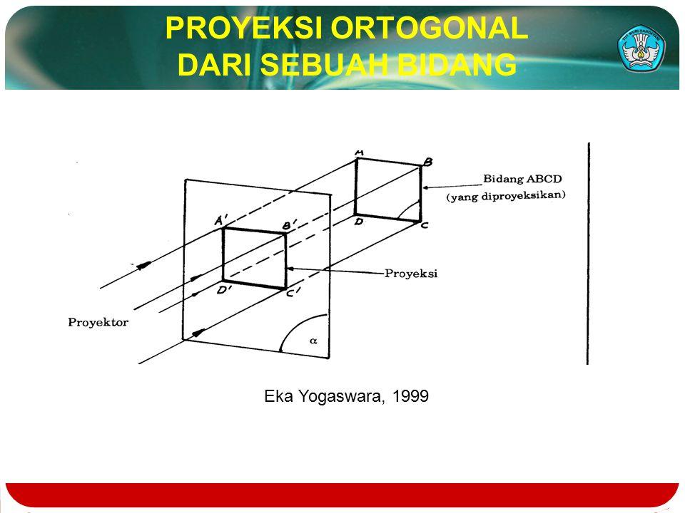 PROYEKSI ORTOGONAL DARI SEBUAH BIDANG Eka Yogaswara, 1999