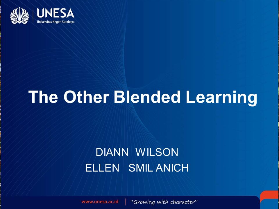 Chapter 7 : Implement the Blended Program A more complex blended learning program requires a more complex implementation.