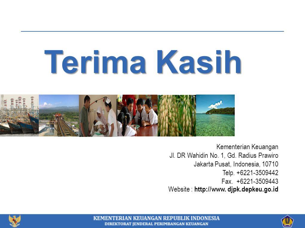 Terima Kasih Kementerian Keuangan Jl. DR Wahidin No. 1, Gd. Radius Prawiro Jakarta Pusat, Indonesia, 10710 Telp. +6221-3509442 Fax. +6221-3509443 Webs