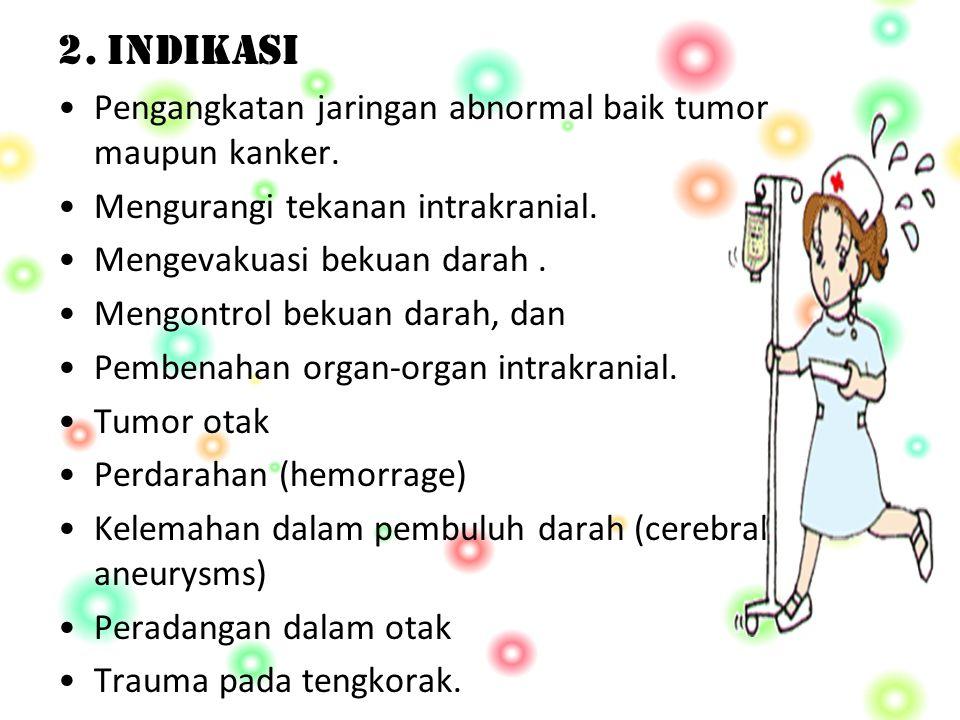 2.INDIKASI Pengangkatan jaringan abnormal baik tumor maupun kanker.