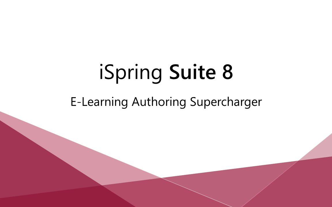 E-Learning Authoring Supercharger iSpring Suite 8