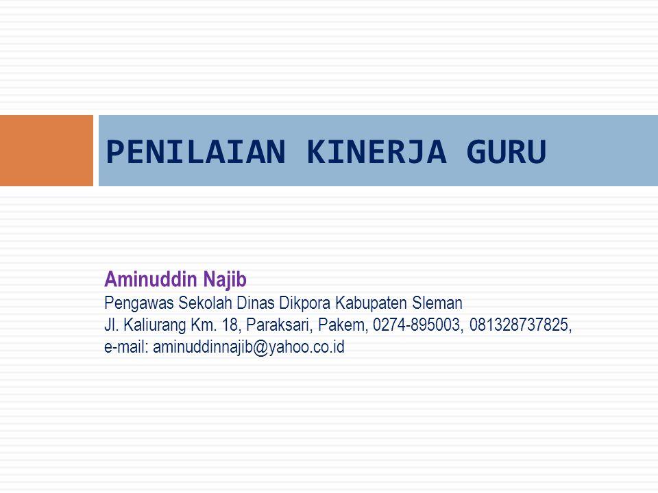 Aminuddin Najib Pengawas Sekolah Dinas Dikpora Kabupaten Sleman Jl.