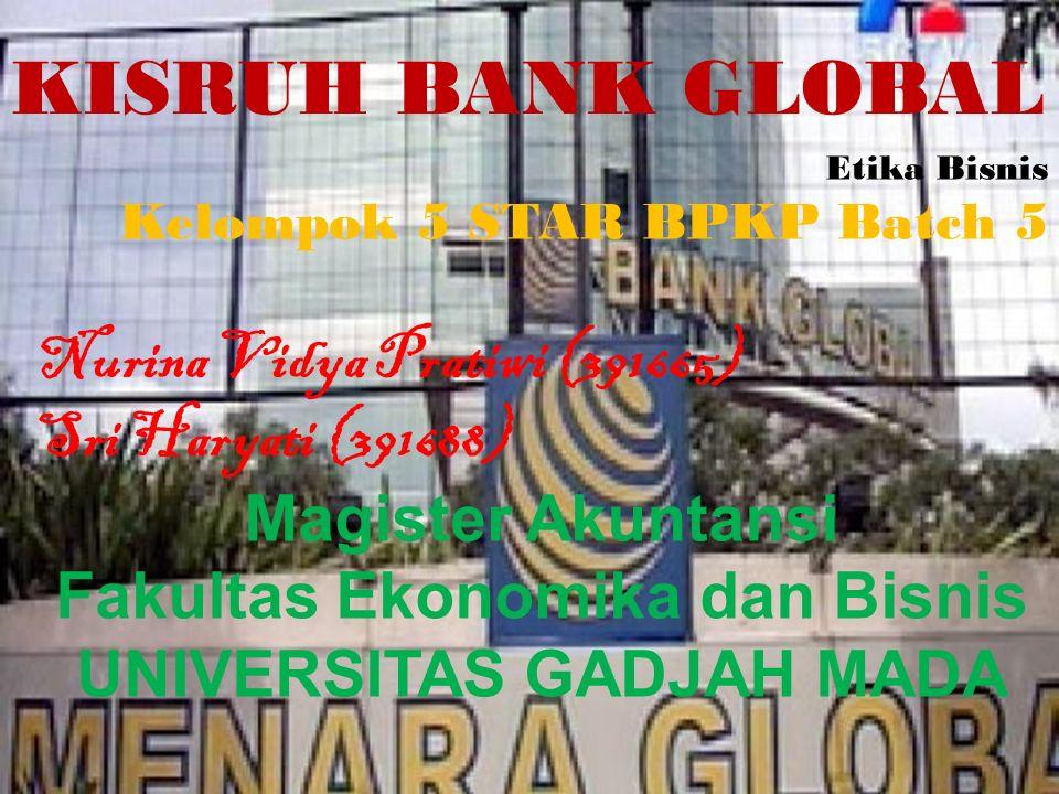 Outline Pembahasan Kasus Profil & Sejarah Singkat Bank Global Kronologis Kasus Pelanggaran Etika Solusi Permasalahan