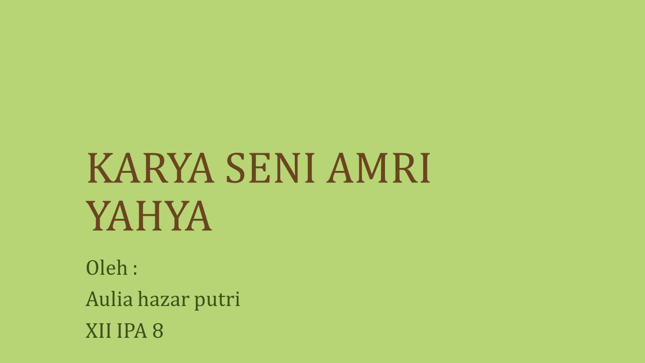 PROFIL AMRI YAHYA : 1.Nama lengkap : Ki Prof. Dr.