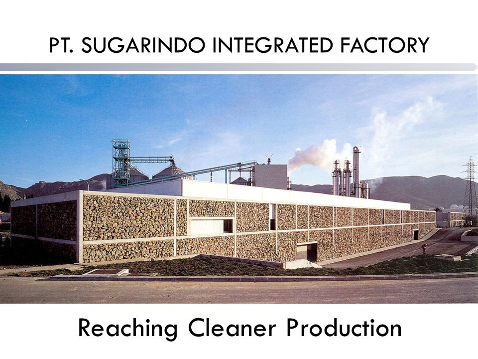 PT. SUGARINDO INTEGRATED FACTORY Reaching Cleaner Production