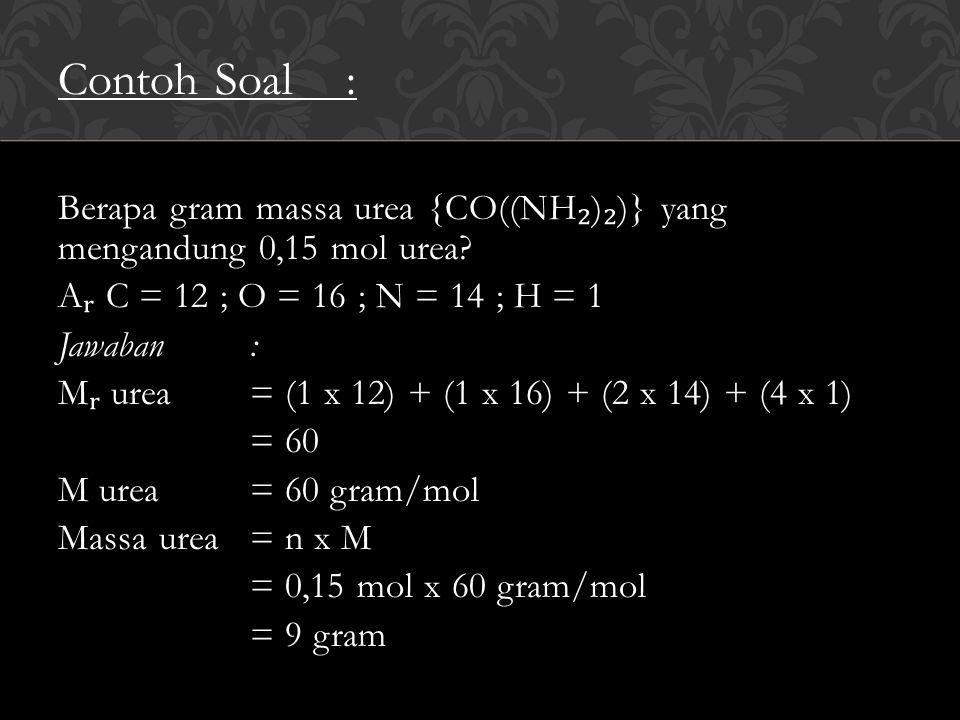Fraksi Mol (X)