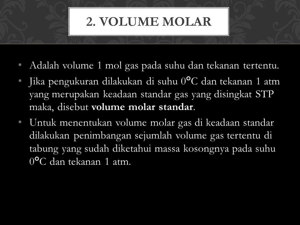 Adalah volume 1 mol gas pada suhu dan tekanan tertentu.