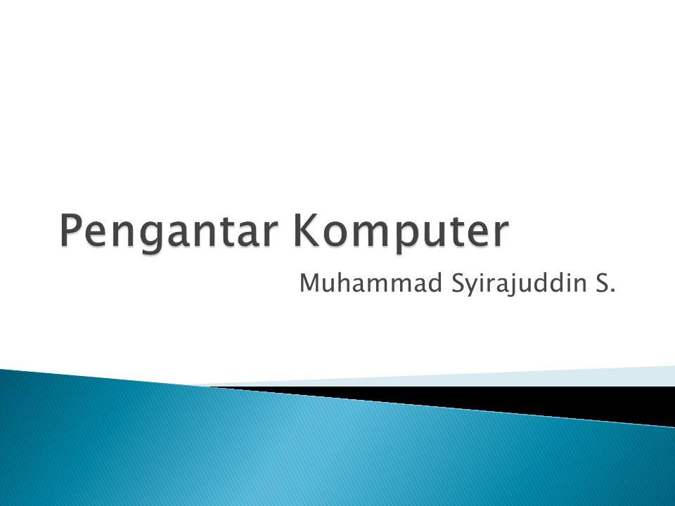 Muhammad Syirajuddin S.