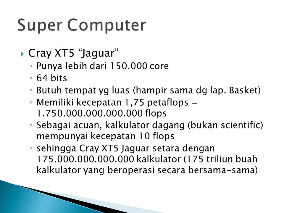 ◦ Punya lebih dari 150.000 core ◦ 64 bits ◦ Butuh tempat yg luas (hampir sama dg lap.