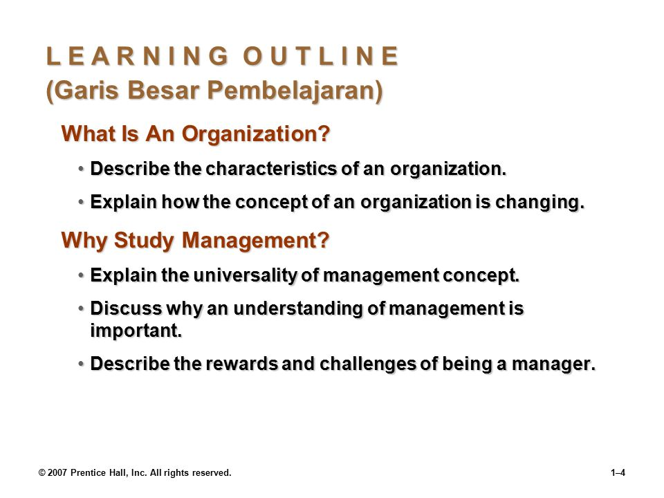 © 2007 Prentice Hall, Inc. All rights reserved.1–3 What Do Managers Do.