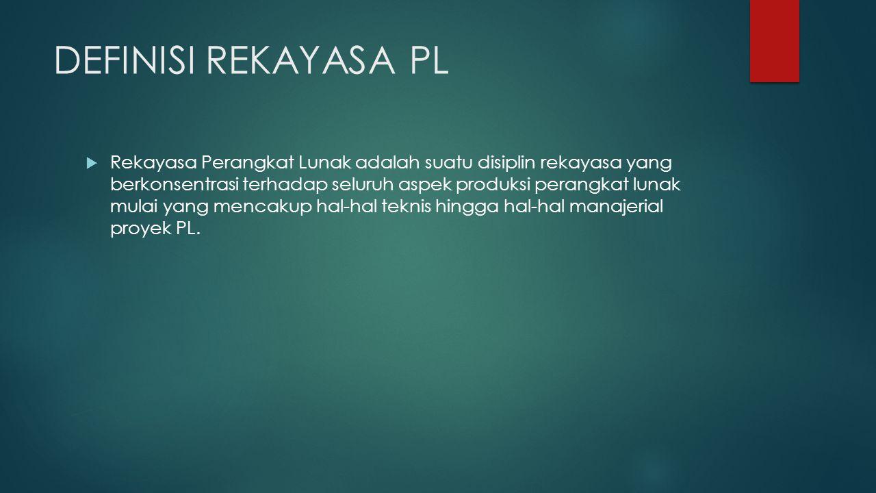 TUJUAN RPL 1.Memperoleh biaya produksi perangkat lunak yang rendah.
