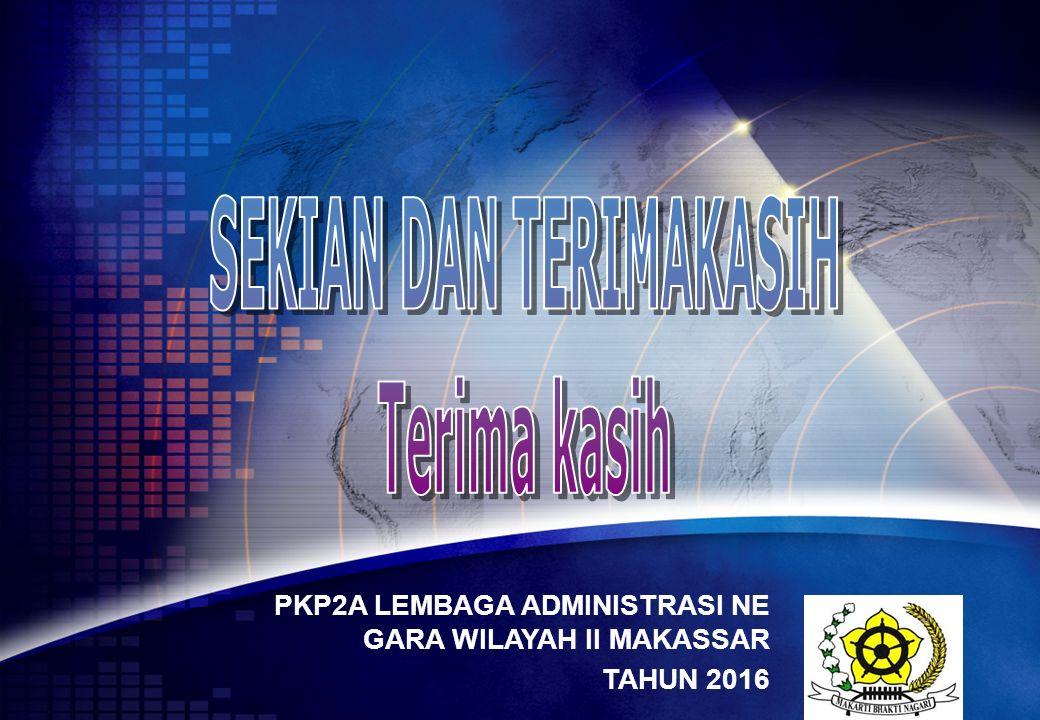 LOGO PKP2A LEMBAGA ADMINISTRASI NE GARA WILAYAH II MAKASSAR TAHUN 2016