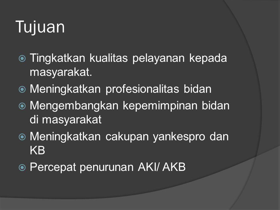 Tujuan  Tingkatkan kualitas pelayanan kepada masyarakat.