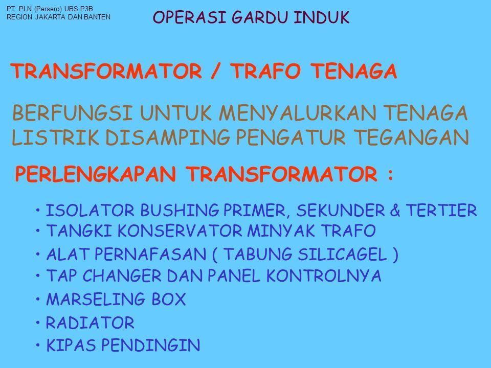 OPERASI GARDU INDUK TRANSFORMATOR / TRAFO TENAGA PT.