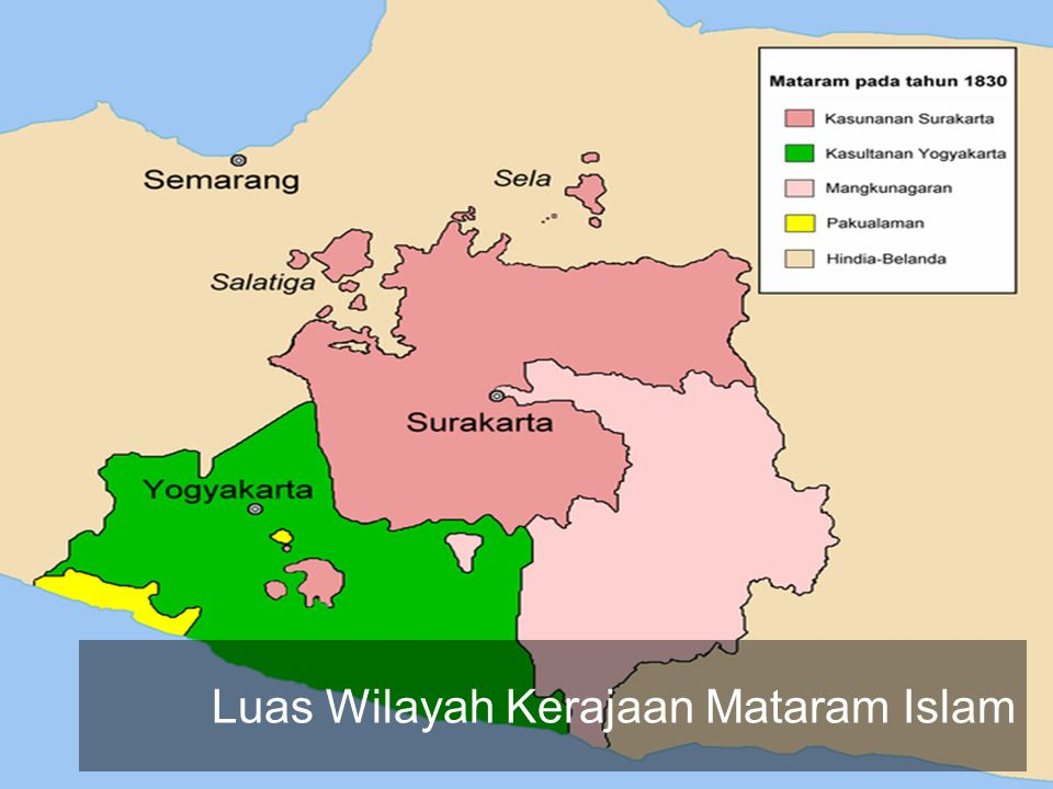 Luas Wilayah Kerajaan Mataram Islam