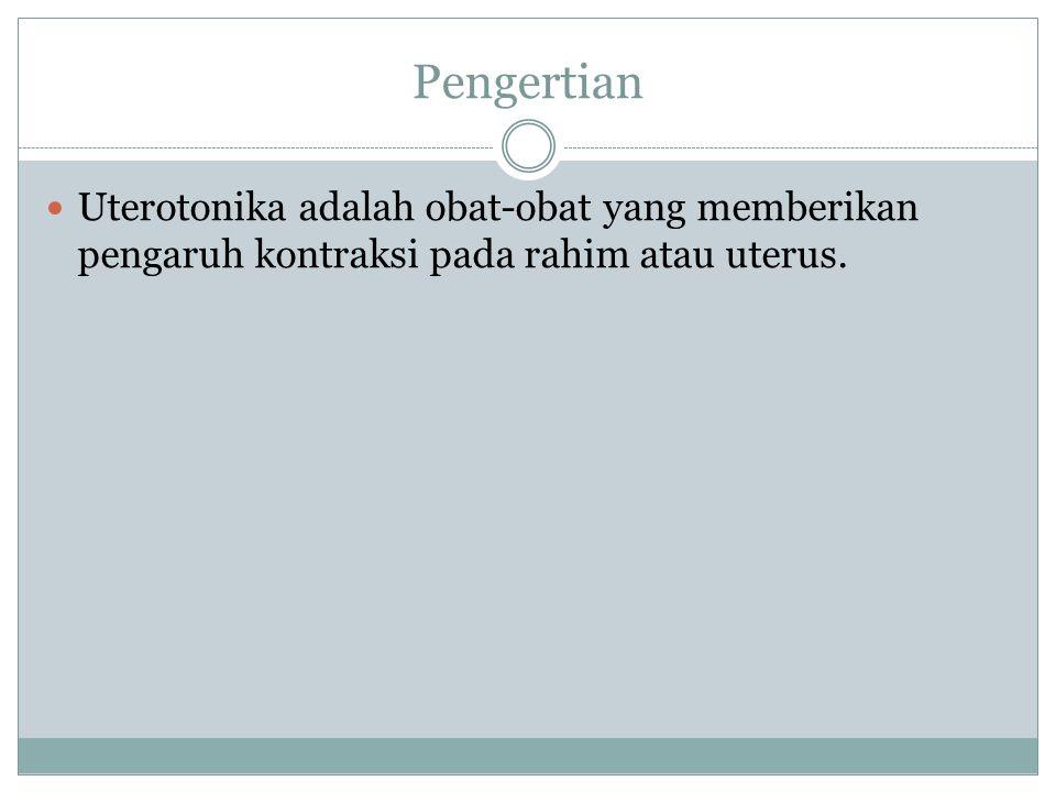 Obat-obat Uterotonika 1.