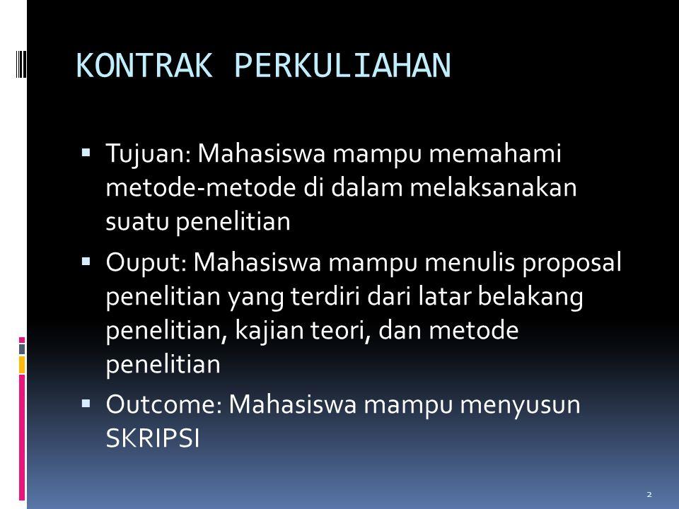 METODE PENELITIAN 1. Dr. Steph Subanidja, SE, MBA, CFP Sumber: Prof. Dr. Anwar Sanusi, S.E., M.Si. Prof.Dr. Sugiyono, dkk