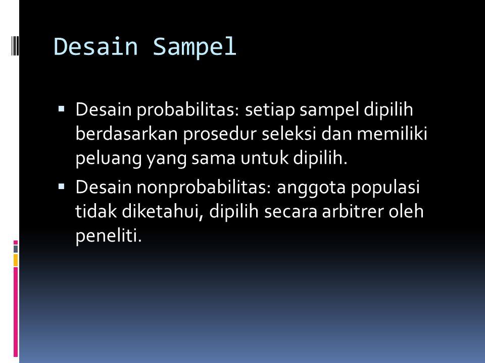 Beberapa Pedoman Untuk Menenukan Jumlah Sampel (Gay & Diehl, 1996: 140-141)  Studi deskriptif, sampel 10% dari populasi dianggap jumlah yang amat min