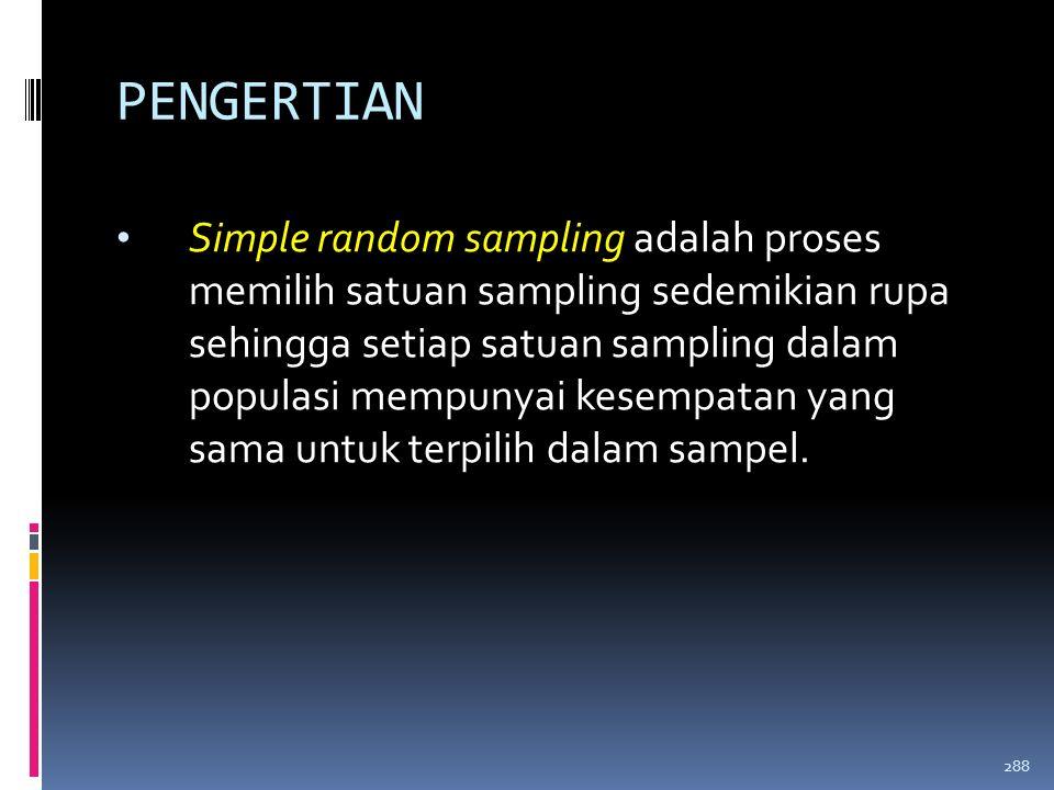 TEKNIK PENARIKAN SAMPEL 1. RANDOM  SIMPLE RANDOM SAMPLING  SYSTEMATIC RANDOM SAMPLING  STRATIFIED RANDOM SAMPLING  CLUSTER RANDOM SAMPLING 2. NON-