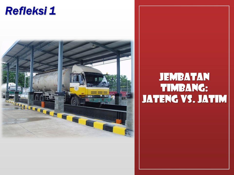 Jembatan Timbang: JATENG Vs. Jatim Refleksi 1
