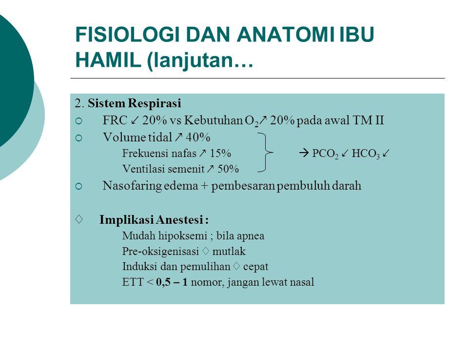 FISIOLOGI DAN ANATOMI IBU HAMIL (lanjutan… 2.