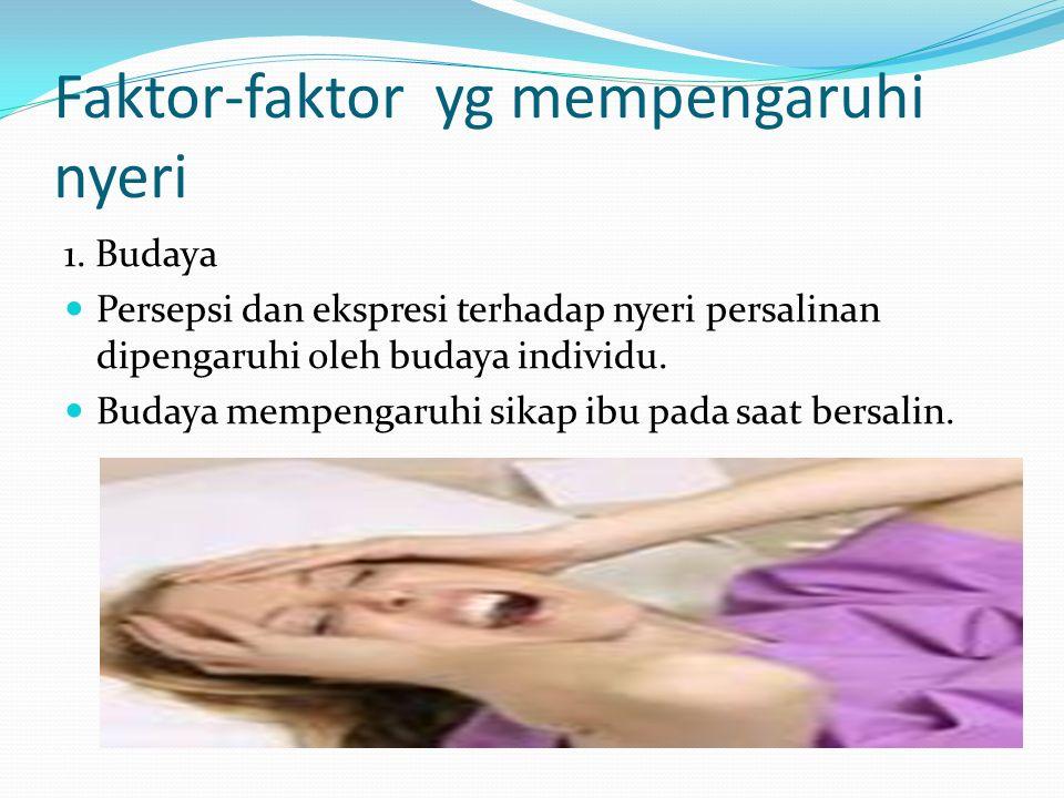 Faktor-faktor yg mempengaruhi nyeri 1.