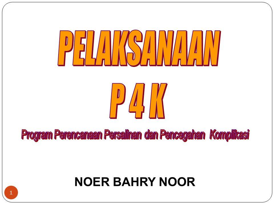 Indikator Pemantauan Pelaksanaan P4K : 1.% Desa melaksanakan P4K dengan Stiker 2.