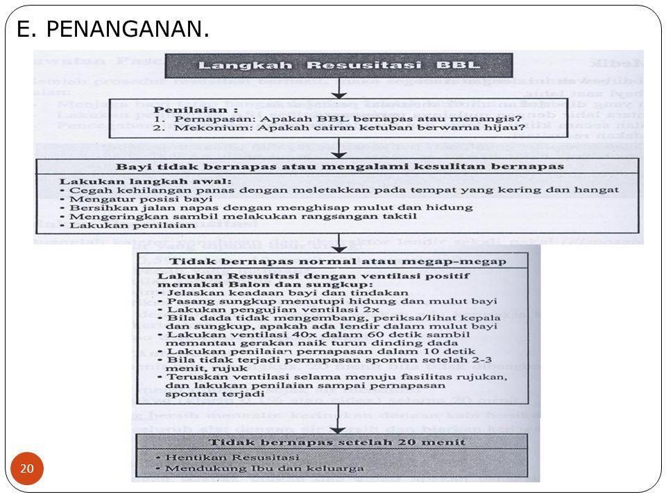 E. PENANGANAN. 20