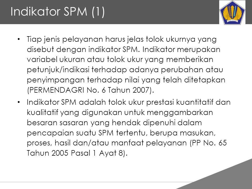 Tankertanker Design Indikator SPM (1) Tiap jenis pelayanan harus jelas tolok ukurnya yang disebut dengan indikator SPM. Indikator merupakan variabel u
