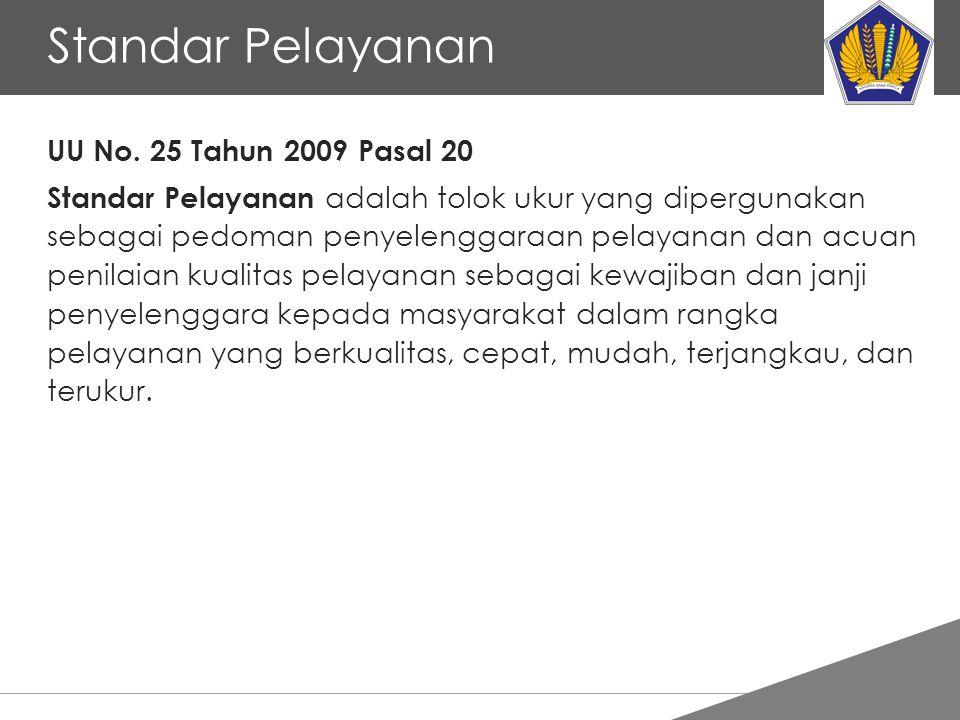Tankertanker Design Standar Pelayanan UU No. 25 Tahun 2009 Pasal 20 Standar Pelayanan adalah tolok ukur yang dipergunakan sebagai pedoman penyelenggar