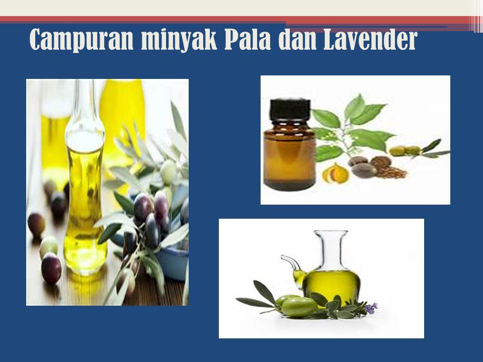 Campuran minyak Pala dan Lavender
