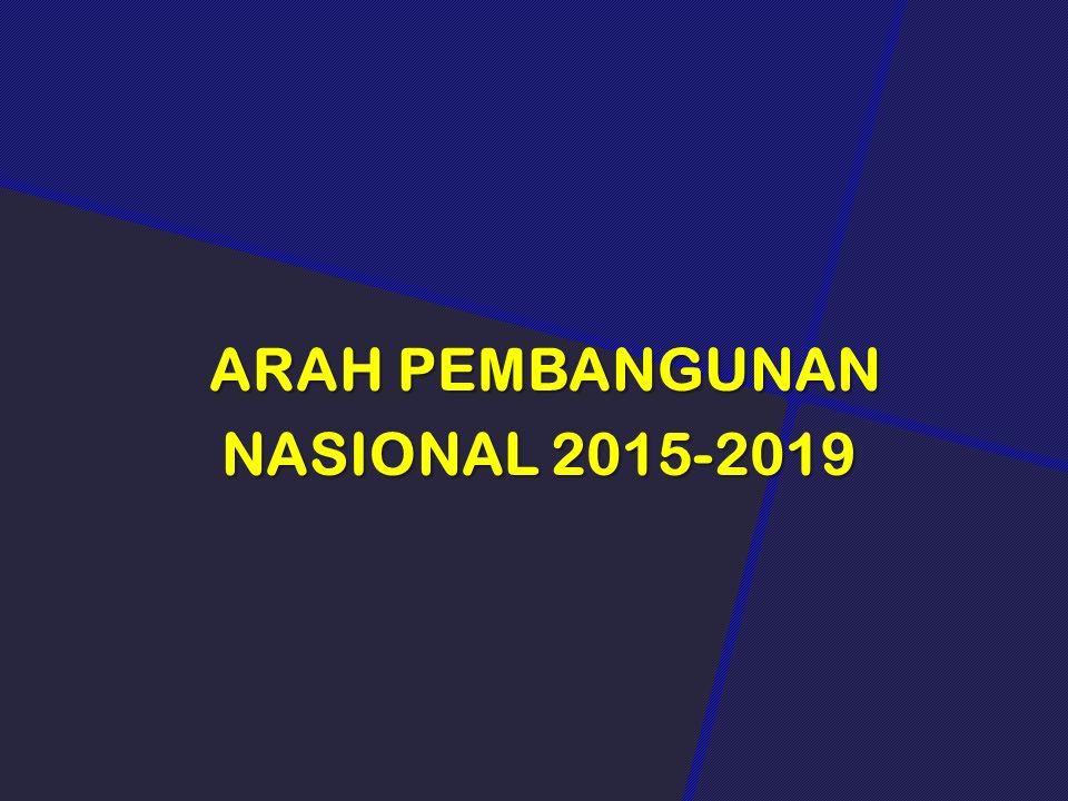 ARAH PEMBANGUNAN NASIONAL 2015-2019 ARAH PEMBANGUNAN NASIONAL 2015-2019