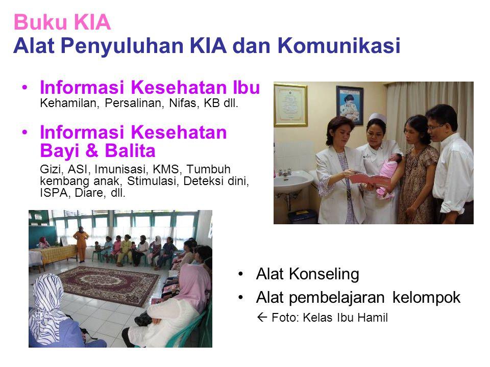 Informasi Kesehatan Ibu Kehamilan, Persalinan, Nifas, KB dll. Informasi Kesehatan Bayi & Balita Gizi, ASI, Imunisasi, KMS, Tumbuh kembang anak, Stimul