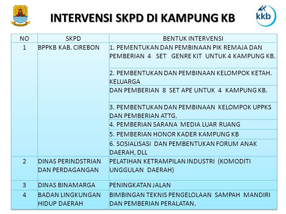 INTERVENSI SKPD DI KAMPUNG KB