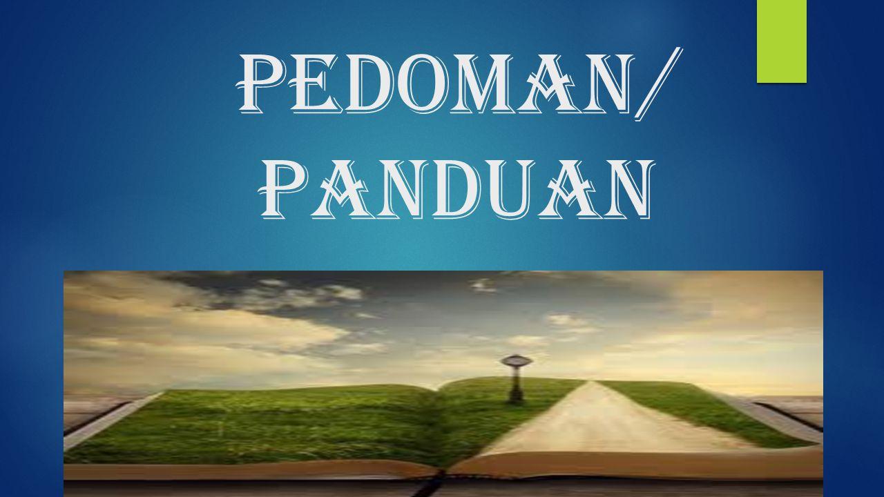 PEDOMAN/ panduan