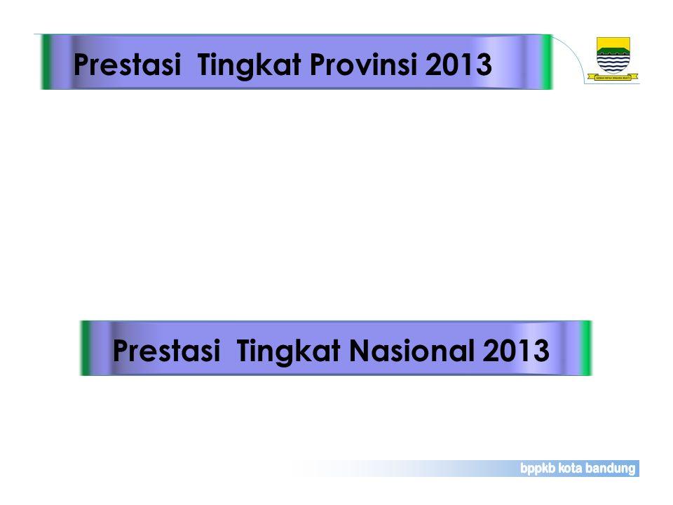 Prestasi Tingkat Provinsi 2013Prestasi Tingkat Nasional 2013