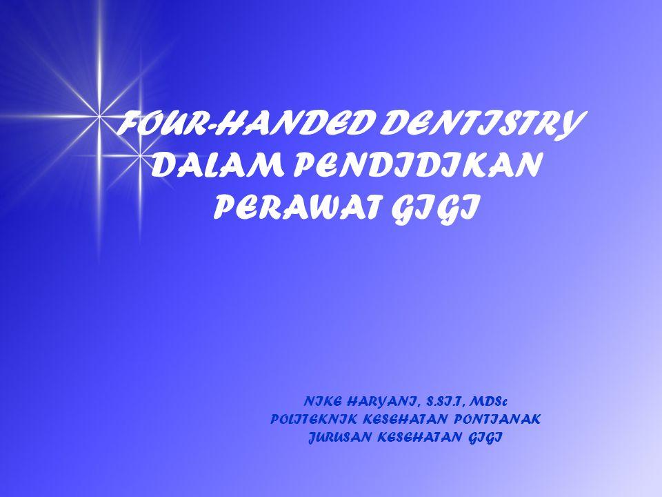 Mata Kuliah : Dental Asistensi I Kode Mata Kuliah: KG 302 Beban Studi : 2 SKS (T=1 ; P=1) Penempatan : Semester 3 Deskripsi Mata Kuliah Mata kuliah ini menguraikan tentang prinsip-prinsip dasar dan penerapan dental asistensi pada pelayanan kesehatan gigi dan mulut.