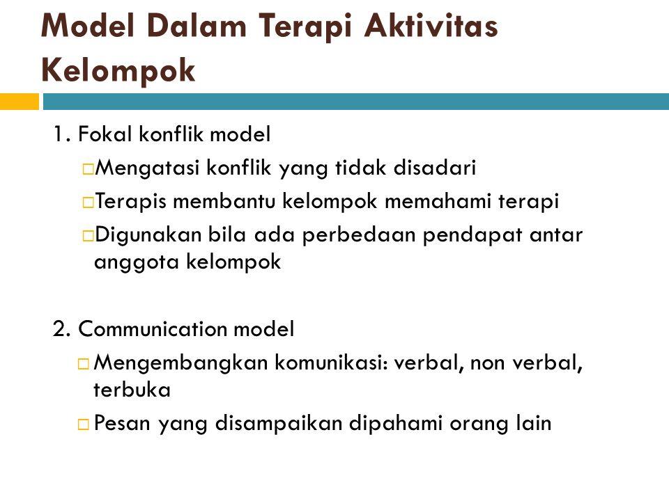 Model Dalam Terapi Aktivitas Kelompok 1.