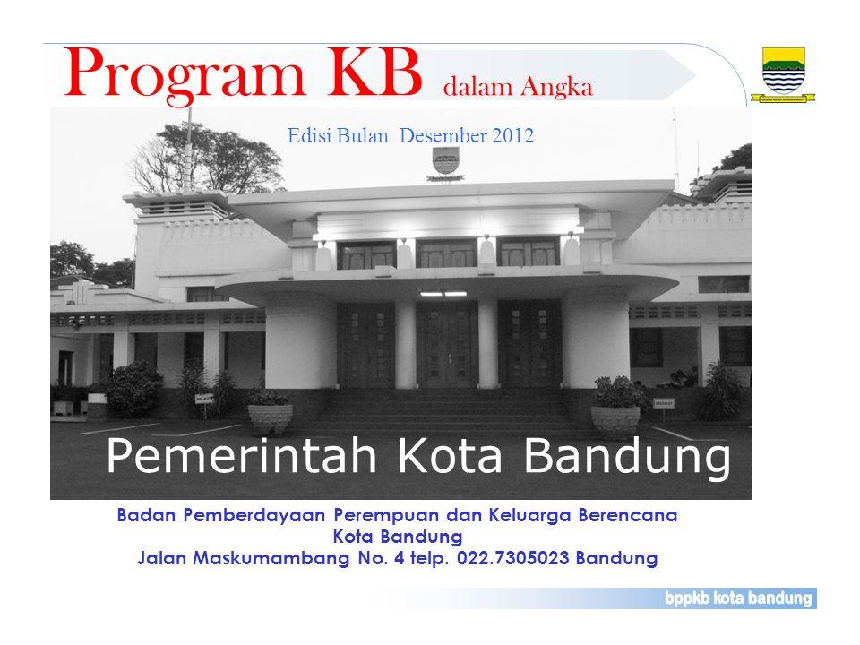 Badan Pemberdayaan Perempuan dan Keluarga Berencana Kota Bandung Jalan Maskumambang No. 4 telp. 022.7305023 Bandung Program KB dalam Angka Edisi Bulan