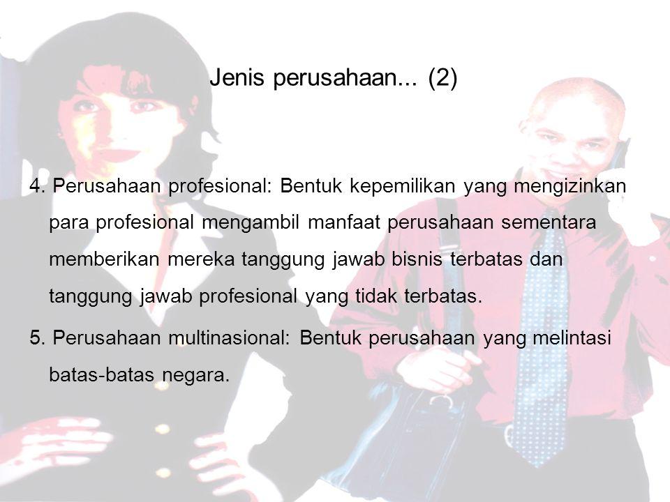 Jenis perusahaan...(2) 4.