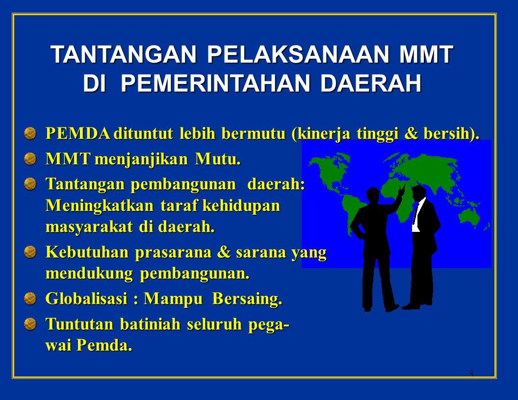 2 MANAJEMEN MUTU TERPADU DI PEMERINTAHAN DAERAH UNTUK MENATA SISTEM dan MENINGKATKAN MUTU KINERJA Disajikan oleh Margono Slamet Institut Pertanian Bogor